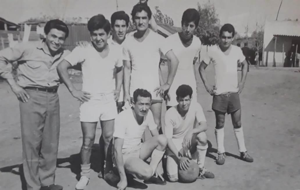 Mi papá con su equipo