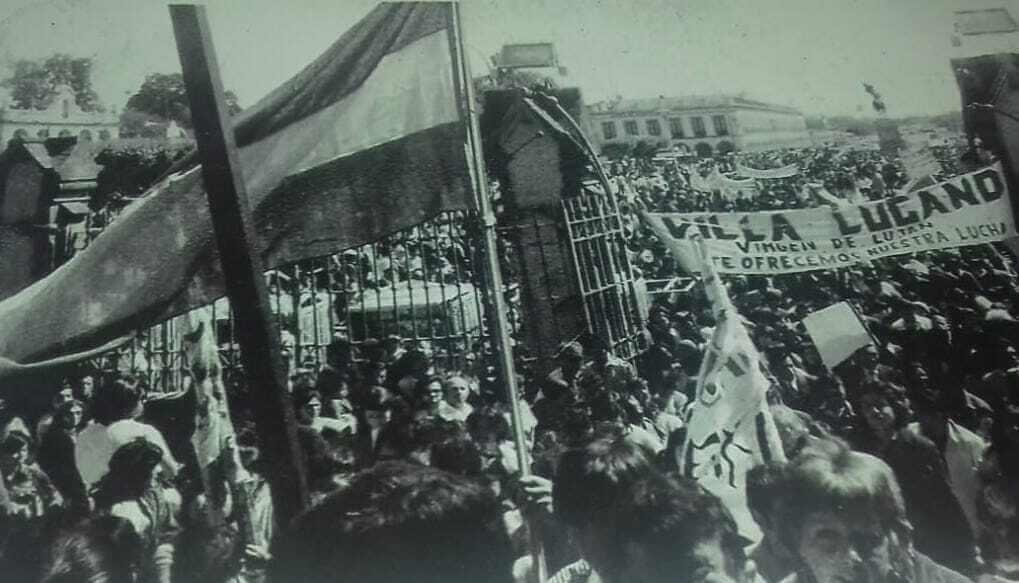 Primera marcha villera a Luján en 1970