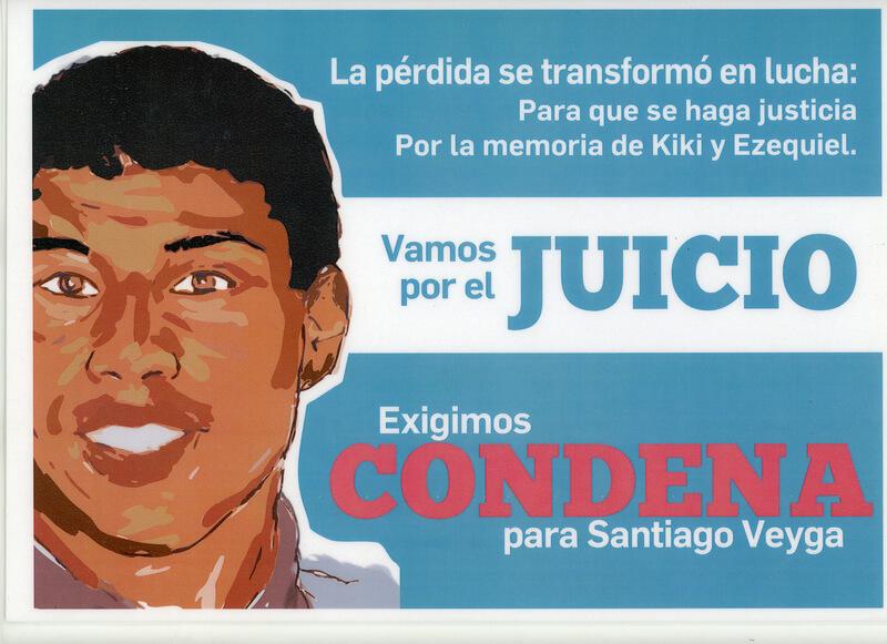 "Afiche del juicio de Jonathan ""Kiki"" Lezcano"