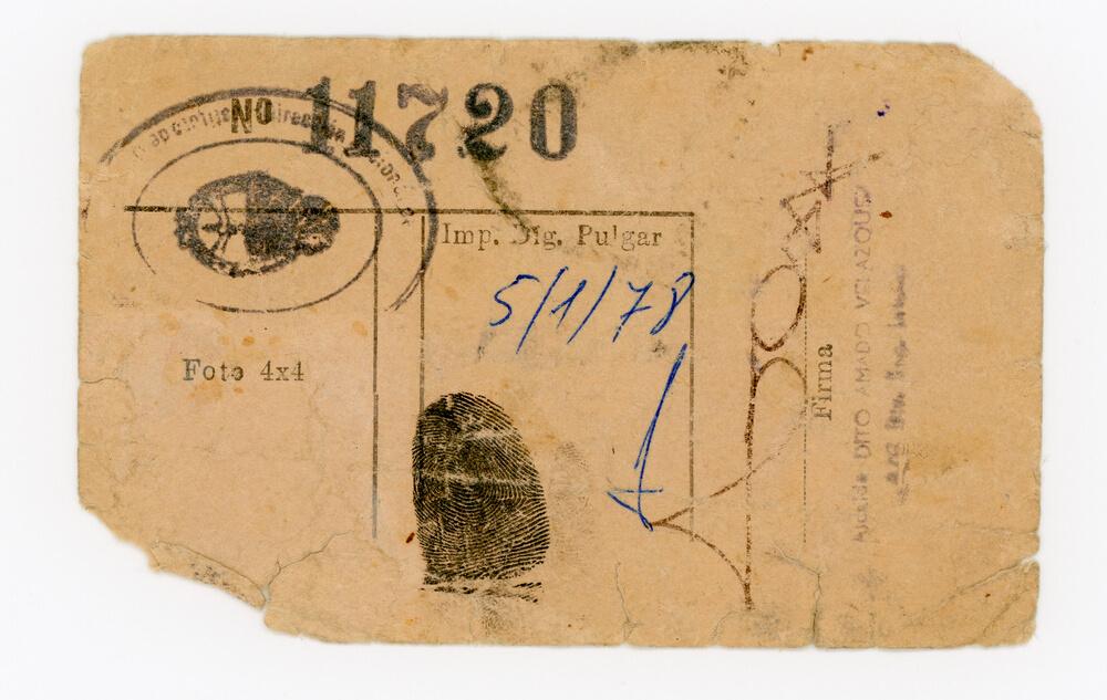 Tarjeta de visita Instituto de detención unidad 2 Devoto (dorso)