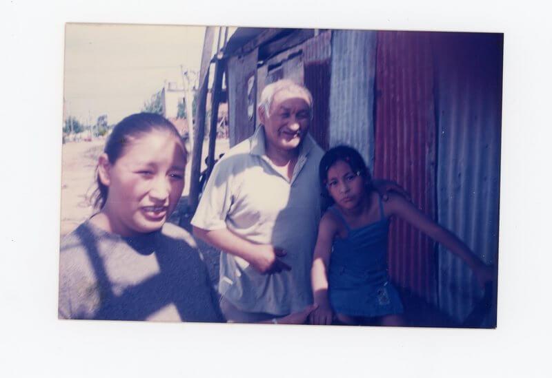 En lo del vecino, junto a mi papá (imagen)